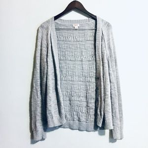 • soft casual knit button up grey cardigan •